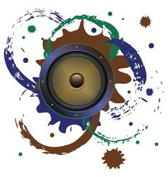 Grunge Audio Speaker3 vector image vector image