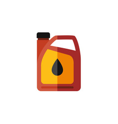 isolated fuel canister flat icon jerrycan vector image vector image