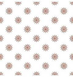 Wheel of ship pattern cartoon style vector image