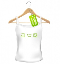 100 precent natural clothes vector image