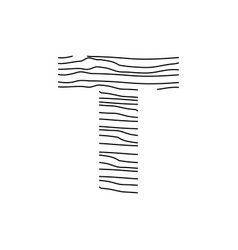 Abstract line initial t vector