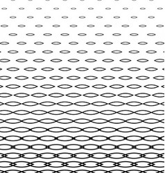 Abstract monochrome curved shape pattern vector