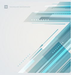 Abstract technology futuristic style blue vector