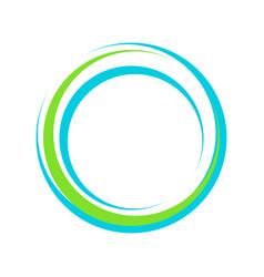 abstract vibrant lens circle symbol logo design vector image