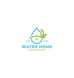 Abstract water home or water house line plumbing vector