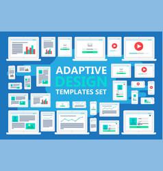 adaptive web templates vector image