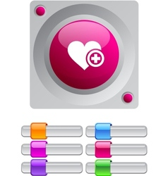 Add to vavorite color round button vector image