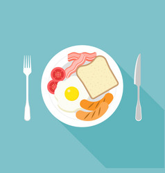 american breakfast vector image