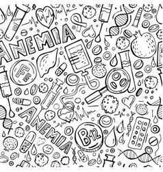 Anemia seamless pattern vector