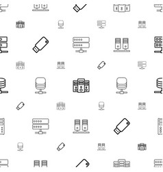 Backup icons pattern seamless white background vector