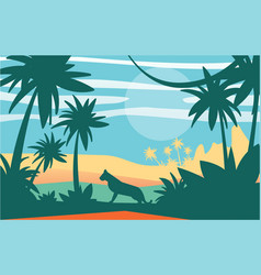 beautiful scene of nature peaceful jungle vector image