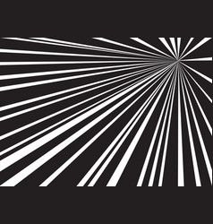 black white speed line zoom background vector image