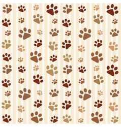 brown footprints seamless pattern vector image