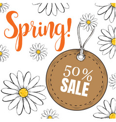 card for sale in spring vector image
