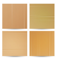 cardboard textures set realistic paper vector image