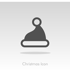 Christmas hat icon vector