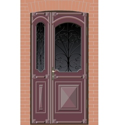 Closed door with grille vector