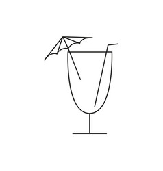 cocktail of icon vector image