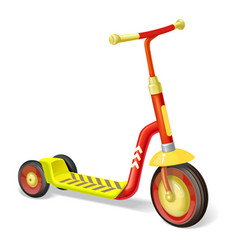 colored roller scooter for children balance bike vector image