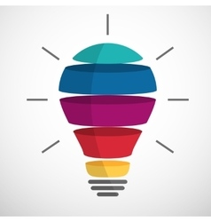 Colorful sliced bulb vector