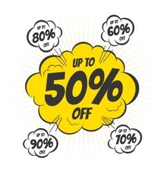 Discount bubble vector image