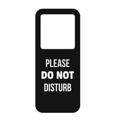 Door hanger tag icon simple style vector