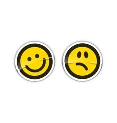 Emoticon Stickers vector image