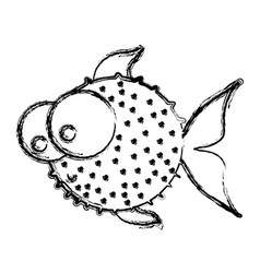 figure balloon fish icon vector image