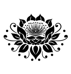 Filigree lotus flower vector image
