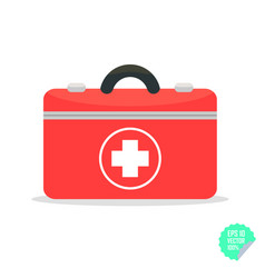 First aid kit flat icon health care flat vector