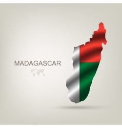 flag of Madagaskar as the country vector image