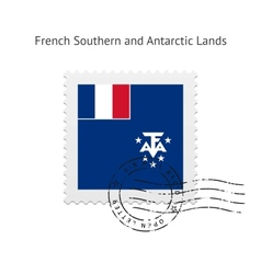 French Southern and Antarctic Lands Flag Postage vector