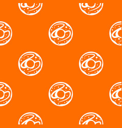 glazed donut pattern seamless vector image