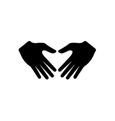 hand gesture icon design template vector image