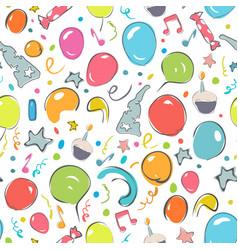 Happy birthday seamless patern vector