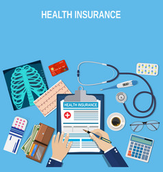 health insurance concept vector image