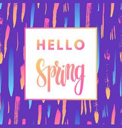 Hello spring sale banner vector