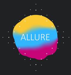 holography fluid logo cover design modern template vector image