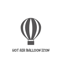 hot air balloon icon simple flat style vector image