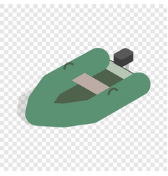Inflatable boat isometric icon vector