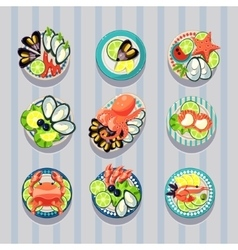 Infographic Elements Food Business Seafood vector