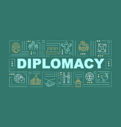 International diplomacy word concepts banner vector