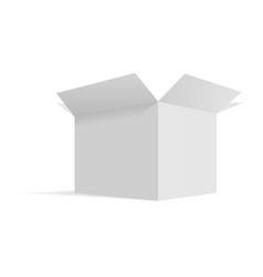 isometric opened cardboard box packaging template vector image