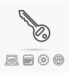 Key icon door unlock tool sign vector