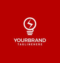 lamp bulb logo icon set template vector image