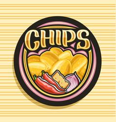 Logo for potato chips vector