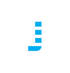 logo letter j blue stripes vector image