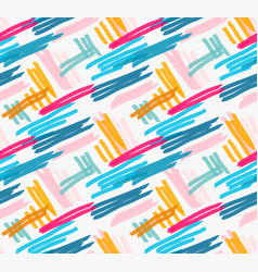 Marker drawn blue and pink diagonal hatches vector