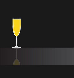 Mimosa coctail vector