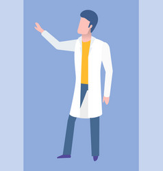 mri or ct doctor in medical gown clinic vector image